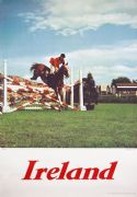 Dublin Horse Show at the RDS. Vintage travel poster - Ireland, show jumping